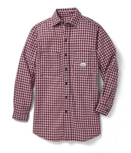RASCO Fire Retardant Red Plaid, protective shirt