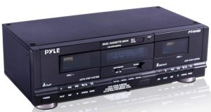 Pyle Home Digital Tuner Dual Cassette Deck