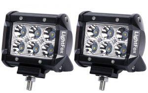 Lightfox 2Pcs 4Inch 18W Spot LED Pods