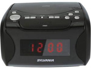 Sylvania USB Charging CD Clock Radio