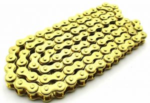 XLJOY 420 Chain 104 Links Gold Chain Pit Dirt Bike