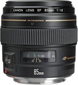 Canon EF 85mm f1.8mm lens