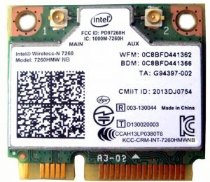 Intel 7260.HMWG.R Dual Band Wireless-AC 7260
