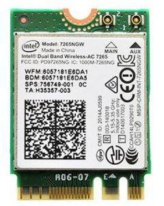 Intel Dual Band Wireless –AC 7265 802.11AC