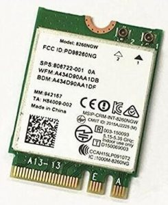 PJCARD'S Dual Band Wireless- AC 8260 Wi-Fi card