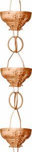 Monarch Pure Copper Cup Rain Chain