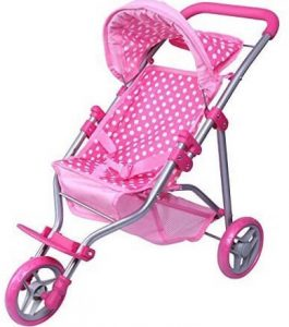 Toys Pink and White Stroller