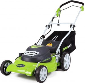 GreenWorks 25022 20-inch Corded Lawnmower