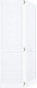 Kimberley Bay Closet door, Louver-Louver White