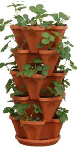 Mr. Stacky 5-Tiered Stacking Strawberry Planter pot