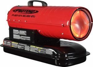 Pro-Temp 80,000 BTU Kerosene Diesel Torpedo Heater