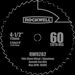 Rockwell RW9282 4 ½ -Inch 60T Saw Blade