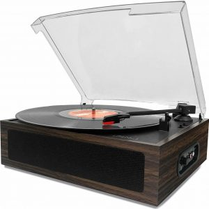 LP&No.1 Vintage vinyl record player