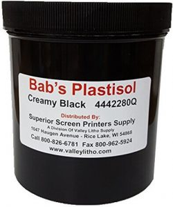 BAB's Creamy Black Screen Printing ink