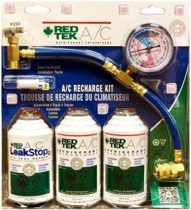 RED TEK AC Refrigerant Recharge Kit