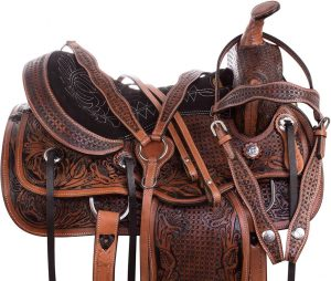 AceRugs Cowhide Western Leather Horse Saddle