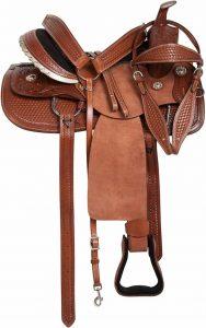 AceRugs Western Leather RANCHING saddle