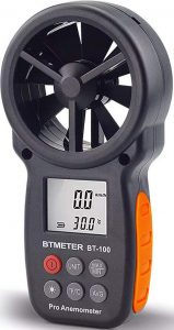 BTmeter Digital Handheld Anemometer BT-100