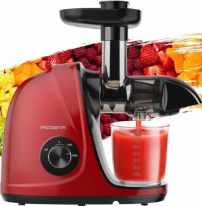 Picberm Masticating Juicer for grapes