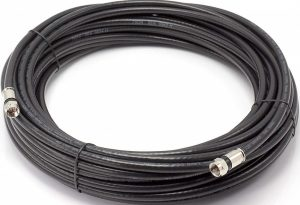 Cimple Black Solid Copper Coaxial Cable