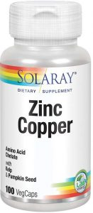 Solaray Zinc Copper Supplement for Grey Hair