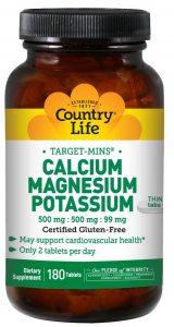 Country Life Calcium Magnesium Potassium Tablets