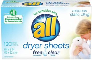 All Free Clear Fabric Dryer Sheets for Baby