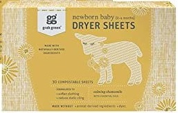 Grab Green Stage Dryer Sheets for Baby