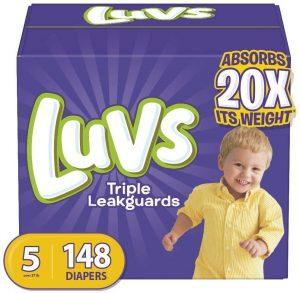 LUVS Diaper for Skinny Baby