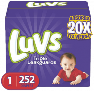 Luvs Diapers for Tummy Sleepers