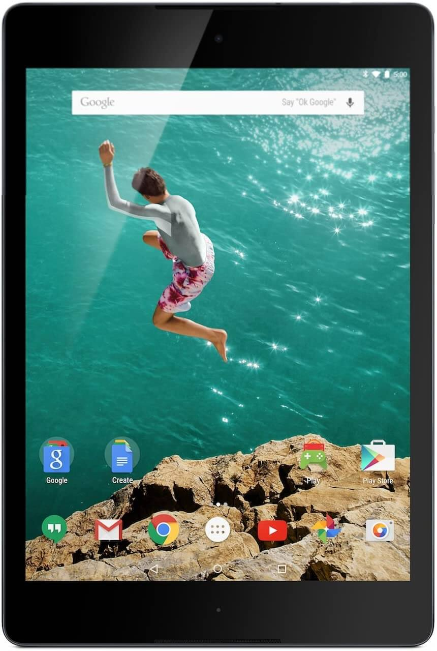 Google Nexus 9 for Marine Navigation
