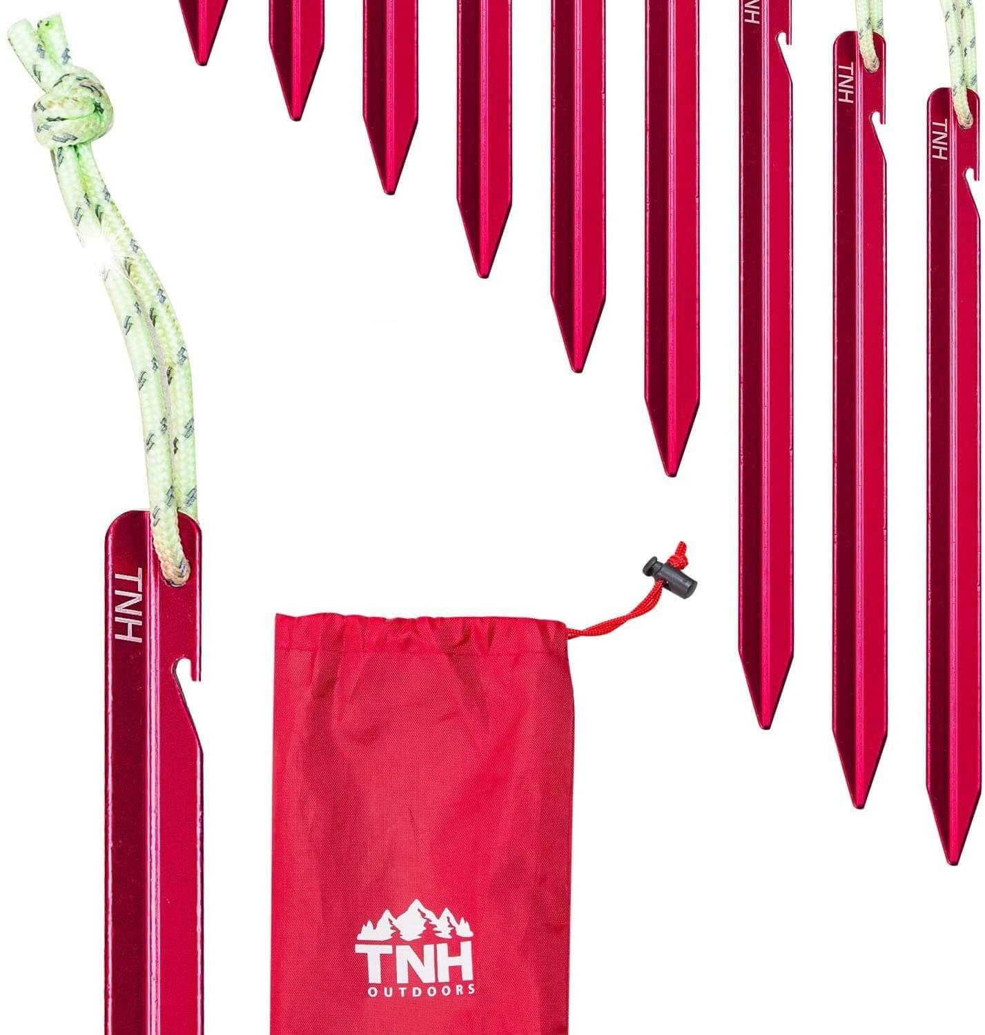 TNH Outdoors 8X Aluminum Tent Stakes