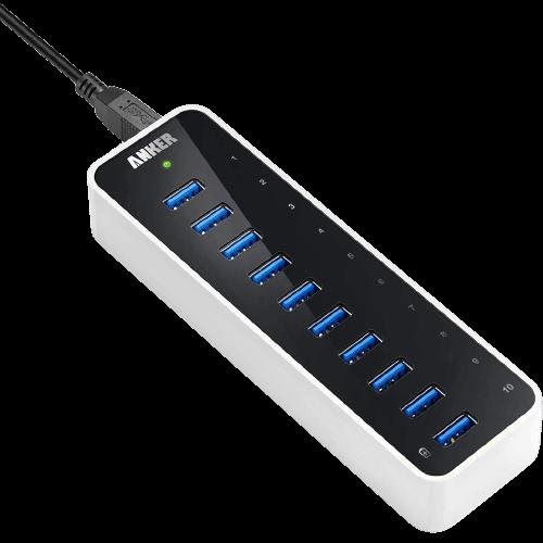 Anker USB 3.0 SuperSpeed 10 Port Hub