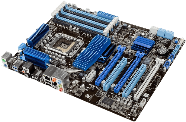 Asus ATX DDR3 Intel x58 Motherboard