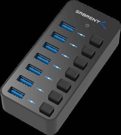 Sabrent 36W 7 Port USB Hub