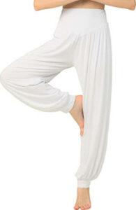 Hoerev Super Soft White HaremYoga Pants