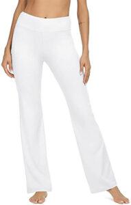 Viishow Women's White Bootleg Yoga Pants
