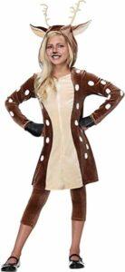 Girls Fawn Deer Halloween Costume